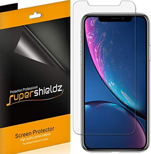 (6 Pack) Supershieldz for Apple iPhone XR (6.1 inch) Screen Protector, Anti Glare and Anti Fingerprint (Matte) Shield