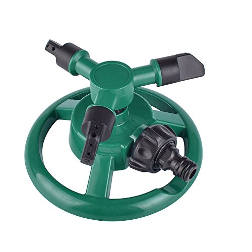 VC-Time Lawn Sprinkler, Water Sprinkler, Garden Sprinkler, Lawn Sprinkler Automatic Garden Water Sprinklers Lawn Irrigation System 3600 Square Feet Coverage Rotation 360° Adjustable