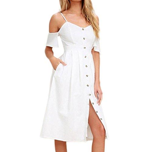 size 40 6fe9e b348f Weiß Gaddrt Lässige Sommer Strandkleid Lange Boho Maxi Abend ...