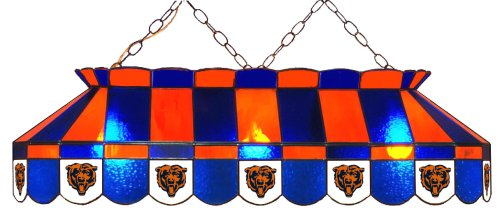 Imperial Officially Licensed NFL Merchandise: Tiffany-Style Stained Glass Billiard/Pool Table Light, Chicago Bears