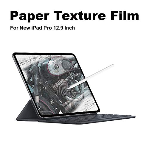 New iPad Pro 12.9 (2018) Screen Protector Paper Texture/Anti Glare/Paper-Like/Matte/Apple Pencil Compatible/Face ID Recognition/Scratch Resistant/Made in Japan A1876 A1983 A1895 A2014 [1 Pack]