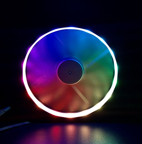 EZDIY-FAB RGB Fan Frame with Individual Addressable RGB Lighting 120mm Fan  mounting with Controller(Compatible with ASUS Aura Sync, GIGABYTE RGB