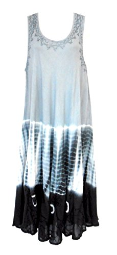 Raya Sun Tie Dye Dress/Cover Up in Grey/White Size M