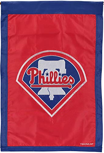 (Philadelphia Phillies EG Premium 2-Sided Banner 28x44 Embroidered Applique Flag )