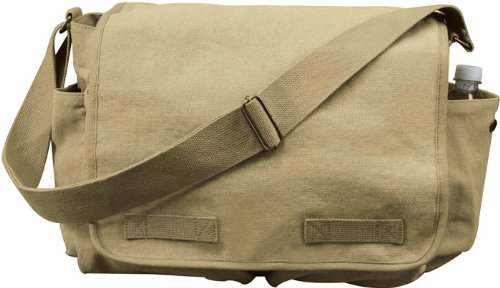 9848 Vintage Classic Army Messenger Heavy Weight Shoulder -