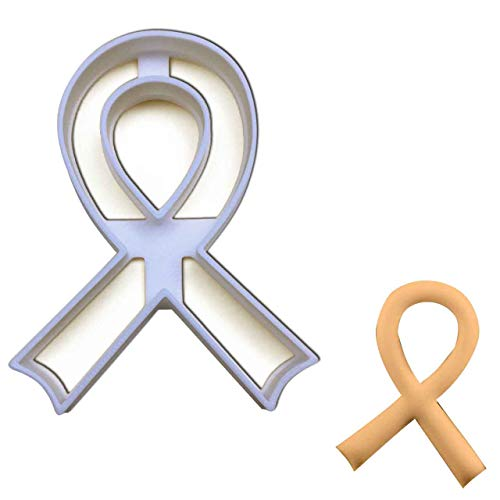 (Awareness Ribbon cookie cutter, Ideal for fundraising events)