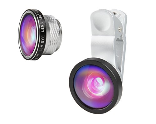 3-in-1 Macro/Fish-eye/Wide Clip Lens for Mobile Phone and Tablets (Silver) - 8