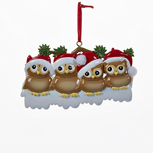 Kurt Adler Christmas Owl Family of 4 Ornament