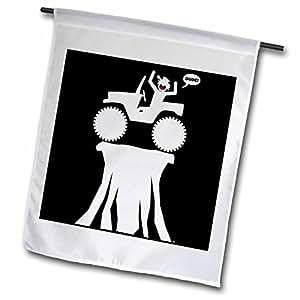 Mark Grace SCREAMNJIMMY Cars - CAR HIGH image 2 on black - 18 x 27 inch Garden Flag (fl_39884_2)