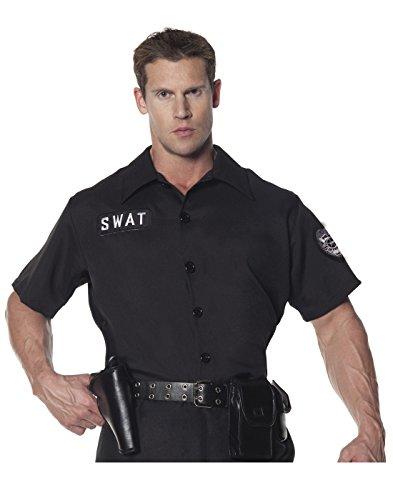 Underwraps Men's Plus-Size Swat Shirt, Black, -