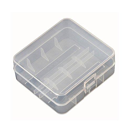 Luces & ♥ Lighting - Soshine 2 x 26650 batería de plástico duro transparente funda de almacenamiento - 1 pieza: Amazon.es: Iluminación