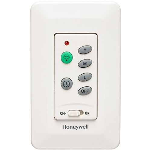 Honeywell Ceiling Fans 40014-01 Universal Wall Mount Control for Ceiling Fans, Cream ()