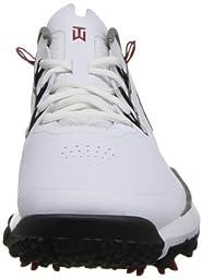 Nike Golf Men\'s Nike TW \'14 Golf Shoe,White/Metallic Pewter/Varsity Red/Metallic Dark Grey,10 M US