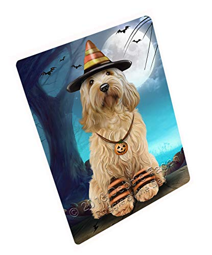 Doggie of the Day Happy Halloween Trick or Treat Cockapoo Dog Candy Corn Magnet MAG61605 (Mini 3.5