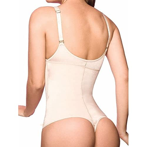 2d1cdb10eac LAZAWG Women s Firm Control Thong Body Briefer Shapewear Bodysuit Body  Shaper low-cost