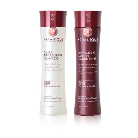 Keranique Color Boost Scalp Revitalizing Keratin Shampoo for Color Treated Hair | Keratin Hair Treatment | Keratin Amino Complex, Free of Sulfates, Dyes and Parabens ()