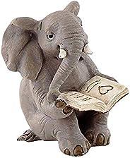 Top Collection Livro de leitura de elefante em jardim