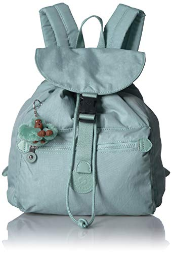 Kipling Keeper Small, Padded, Adjustable Backpack Straps, Drawstring Closure, fern green