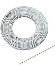 Plastic White Twist Ties Bendable Nose Wire Nose Bridge Strip Cable Mask Accessories Supplies(10/100/300M) (100M)