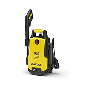 Stanley SHP1600 1600 Psi Electric Pressure Washer with Vari-Spray Nozzle, Wand, Spray Gun, 20' Hose & Detergent Bottle, Yellow