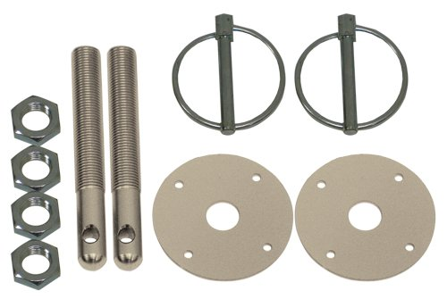 - CFR Performance Compatible/Replacement for Chevy/Ford/Mopar Aluminum Hood PIN KIT FLIP-Over Style - Silver
