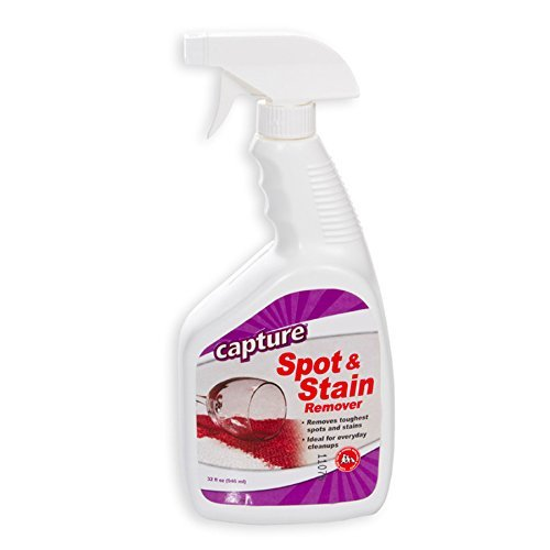 Capture Carpet Spot & Stain Remover Spray Cleaner 32 oz - Clean Stains, Dirt, Juice, Coffee, Wine, Food and Tough Stain