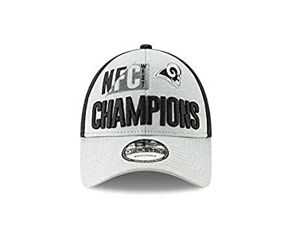 a9e209f3404 Image Unavailable. Image not available for. Color  New Era Los Angeles Rams  2018 NFC West Division Champions 9FORTY Adjustable Hat