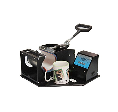 Black Coffee Cup Mug Heat Sublimation Press Transfer Printing Machine by Scenstar
