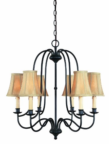 World Imports Lighting 3746-34 Brondy 6-Light Chandelier, Aged Ebony