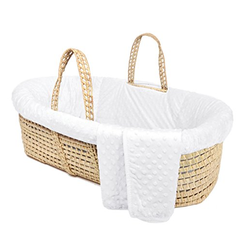 Tadpoles Minky Dot Moses Basket & Bedding Set, -