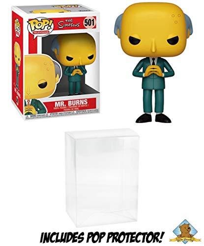 The Simpsons Mr Burns Vinyl Pop Figure Featuring Golden Groundhog Pop Protector