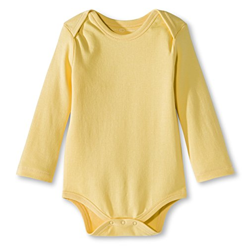 Colored Organics Unisex Organic Baby Bodysuit - Long Sleeve - Yellow - 12-18M Yellow Long Sleeve Onesie