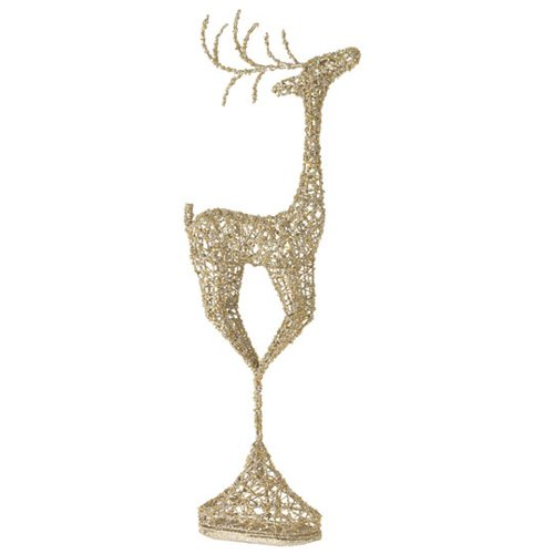 Raz Imports Glittered Deer Topiary