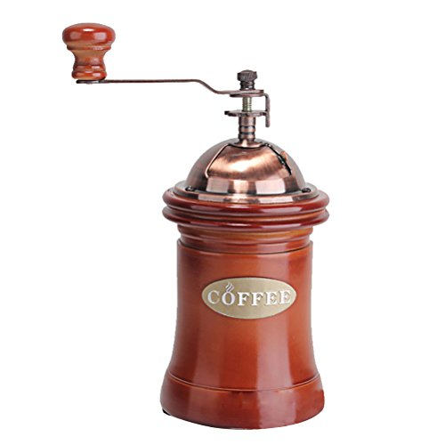 Moyad Manual Coffee Grinder Vintage Coffee Bean Hand Mill with Ceramic Grinding Burr