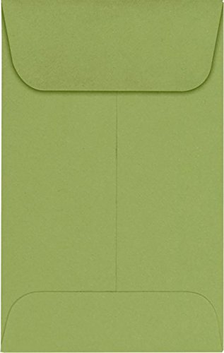 #1 Coin Envelopes (2 1/4 x 3 1/2) – Avocado (250 Qty.) | Perfect for the HOLIDAYS, Weddings, Parties & Place Cards | Fits Small Parts, Stamps, Jewelry, Seeds | EX1CO-27-250