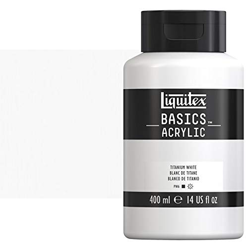 Liquitex BASICS Acrylic Paint, 13.5oz Squeeze Bottle, Titanium White