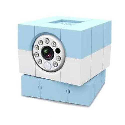 Amaryllo iBaby Plus 1MP Wi-Fi Camera with Cloud Subscription, 1280x720 at 30fps, H.264, MJPEG, Day/Night Vision, Blue