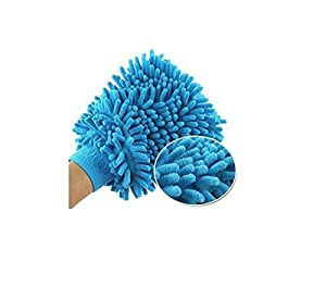 {Factory Direct Sale} Car Microfiber Vehicle Auto Truck Cleaning Glove Wash washing Mitten Cloth Clean Washing Mitt Brush PINK BLUE Color Gloves