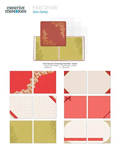 12x12 Antique Red Season's Greeting Christmas Complete Fast2Fab Bundle Kit by Creative Memories