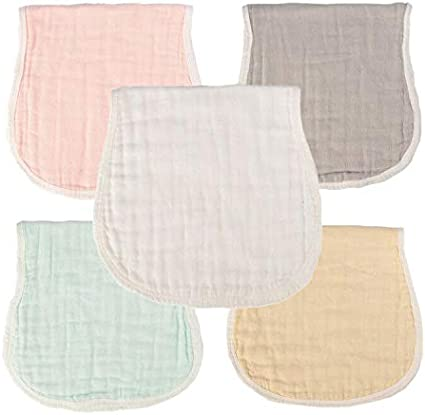 6 Layers Perfect for Newborn Burping , Baby Shower Gift for Boys and Girls by Mulinn Muslin Burp Cloths Multicolored 5 Pack Baby Feeding Nursing Towel Sets for Unisex Infants