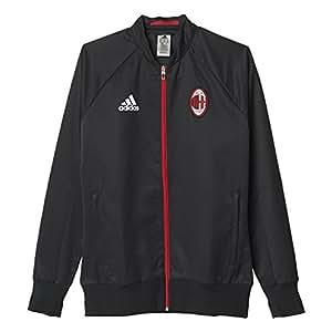 adidas ACM Anth JKT WO - Chaqueta AC Milan para Hombre, Color Negro/Rojo, Talla XS