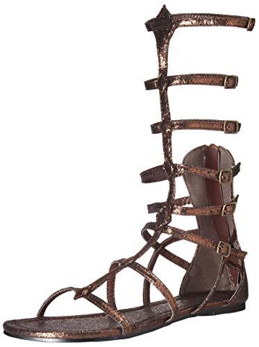 - Ellie Shoes Women's 015-ZENA Flat Sandal, Bronze, 8 M US