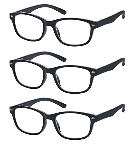 Outray Men and Women 3 Pack Retro Style Spring Hinges Frame Reading Glasses - Of Glasses Women Styles For