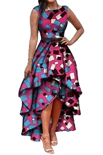 high low african print dresses - 1