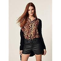 Camisa Chiffon Estampa Leopardo