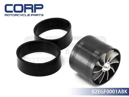 Universal Fit Turbo Single Fan Air Intake Fuel Saver Fan TURBONATOR Black