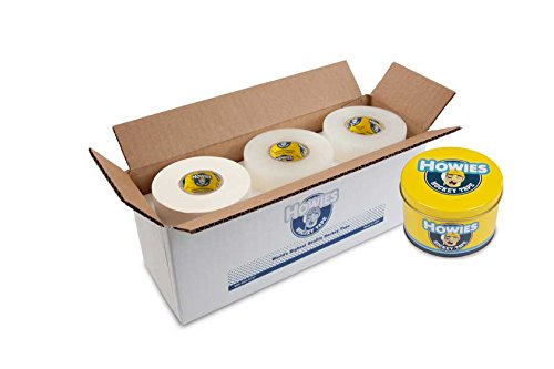 (Howies Hockey Tape - 6 White Cloth & 6 Clear Shin Pad and FREE TAPE TIN)