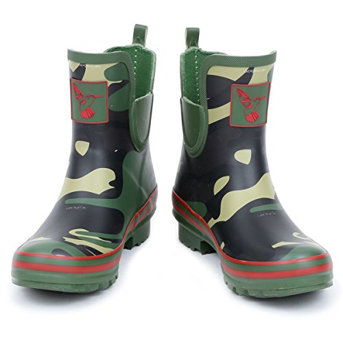 Evercreatures Donna Rain Boot Stivaletti Impermeabili Scarpe Da Pioggia Cute Animal Print Coloratissimi Prato Wellies Uk Brand Camo