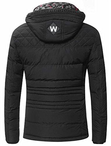 XS Men's EKU Outwear Jackets Hooded Down Warm Drawstring US Winter Black Haf4aOv