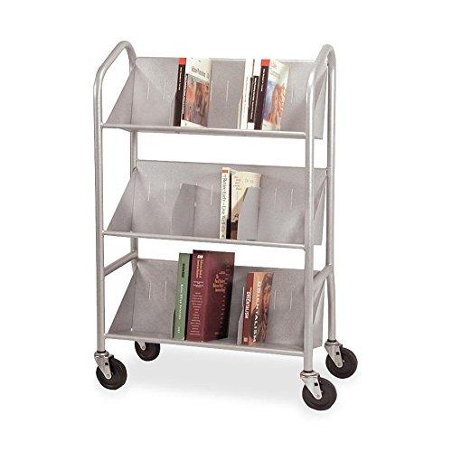 BDY54143 - Buddy Sloped 3-Shelf Book Cart by Buddy